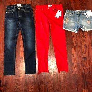 LOT OF 3 Hudson Kids Jeans Shorts Size 14